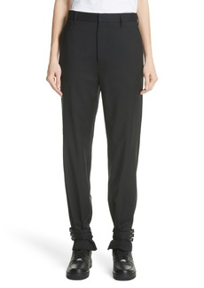 noir kei ninomiya Adjustable Hem Wool & Silk Pants