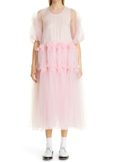 Noir Kei Ninomiya Babydoll Tulle Midi Dress