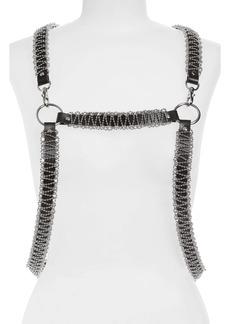 noir kei ninomiya Ball Chain Leather Harness