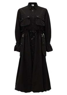 Noir Kei Ninomiya Cargo-pocket drawstring shirt dress