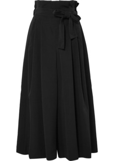 Noir Crepe wide-leg pants
