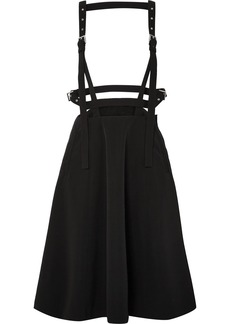 Noir Faille pinafore skirt
