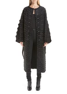 noir kei ninomiya Reversible Floral Faux Fur Coat