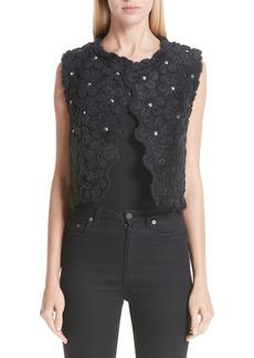 noir kei ninomiya Floral Faux Fur Vest