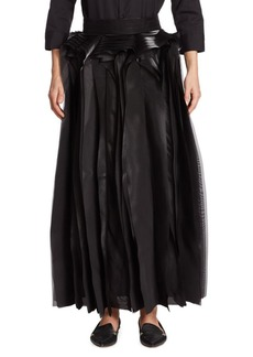 Noir Layered Maxi Skirt