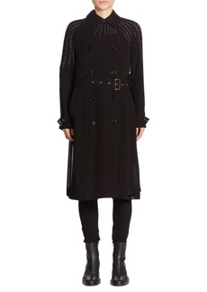Noir Pearl Trench Coat