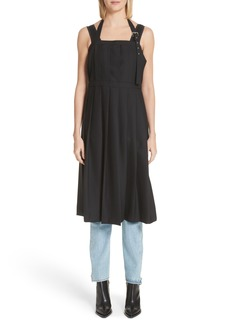 noir kei ninomiya Pleated Open Back Wool Dress