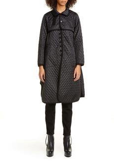 noir kei ninomiya Quilted Houndstooth Satin Coat