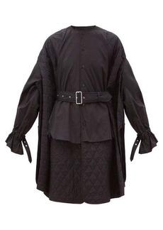 Noir Kei Ninomiya Quilted-panel cotton shirt dress
