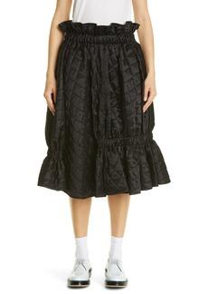 Noir Kei Ninomiya Quilted Satin Skirt
