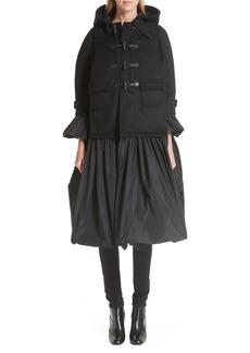 noir kei ninomiya Reversible Hooded Duffle Coat