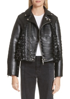 noir kei ninomiya Ribbon Faux Leather Jacket
