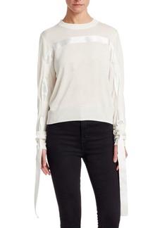 Noir Ribbon Sweater