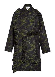 noir kei ninomiya Ruffle Trim Floral Jacquard Coat