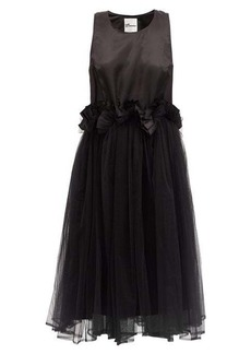 Noir Kei Ninomiya Ruffled satin and tulle dress