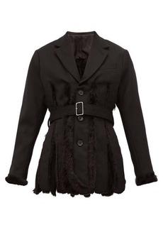 Noir Kei Ninomiya Slit faux fur-lined wool-gabardine blazer