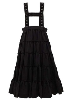 Noir Kei Ninomiya Studded crepe pinafore skirt