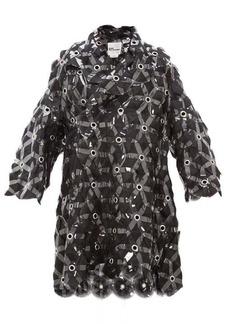 Noir Kei Ninomiya Tulle-embroidered evening coat