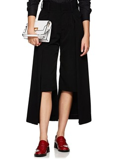 noir kei ninomiya Women's Asymmetric Faille Wide-Leg Trousers