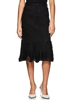 noir kei ninomiya Women's Chain-Link-Detailed Denim Skirt