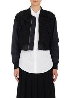 noir kei ninomiya Women's Crop Bomber Jacket