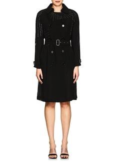 noir kei ninomiya Women's Embellished Georgette Trench Coat