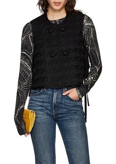noir kei ninomiya Women's Embroidered Tech-Piqué Gilet