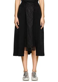noir kei ninomiya Women's Lace-Inset Floral Jacquard Knee Skirt