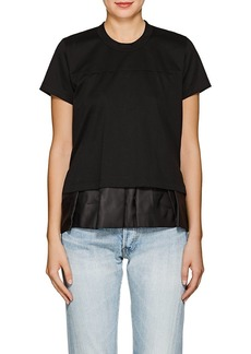 noir kei ninomiya Women's Peplum Cotton T-Shirt
