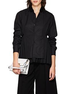 noir kei ninomiya Women's Pleated-Back Cotton Poplin Shirt