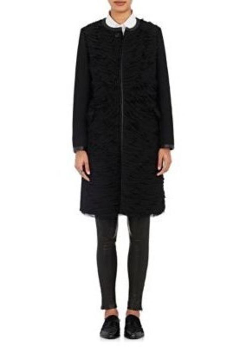 noir kei ninomiya Women's Tulle-Front Melton Coat