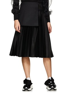 noir kei ninomiya Women's Wool-Apron Satin A-Line Skirt