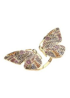 Noir Multi-Colored Cubic Zirconia Butterfly Wing Ring