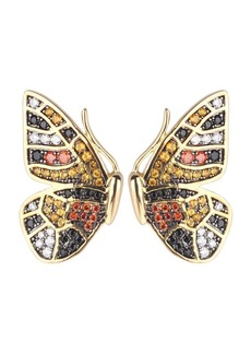 Noir Multi-Colored Cubic Zirconia Butterfly Wing Stud Earring