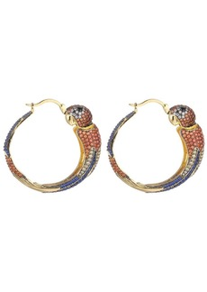 Noir Multi-Colored Cubic Zirconia Parrot Hoop Earring