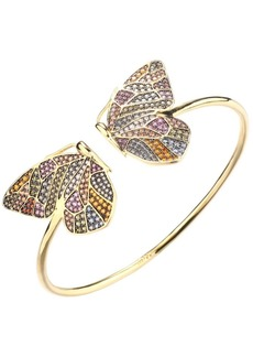 Noir Multi-Colored Stone Butterfly Cuff