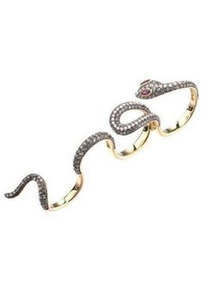 Noir Multi Finger Cubic Zirconia Snake Ring