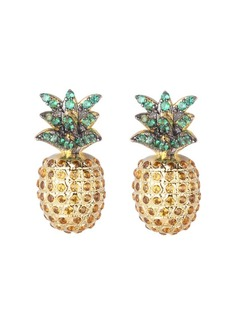 Noir Multi Stone Cubic Zirconia Pineapple Stud Earring