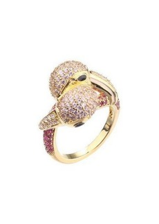 Noir Pink Cubic Zirconia Flamingo Ring