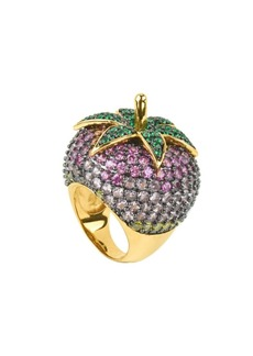 Noir Pink Cubic Zirconia Strawberry Cocktail Ring