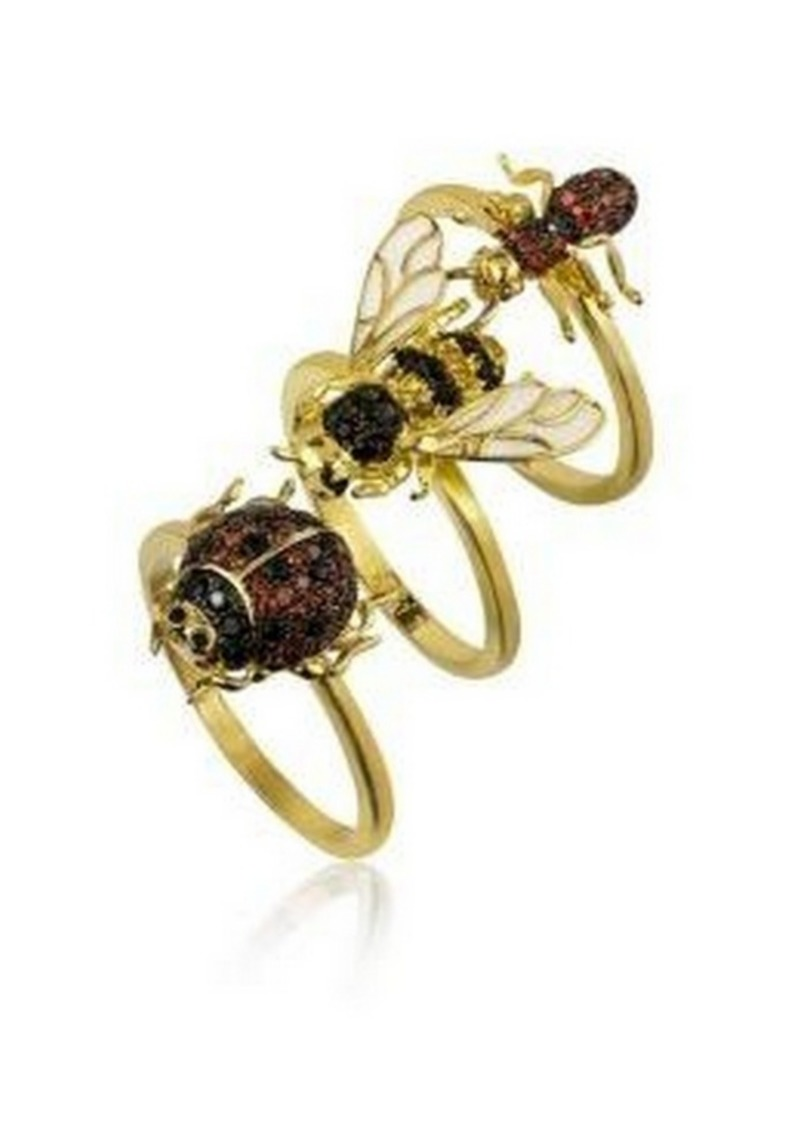 Noir Stackable Cubic Zirconia Bug Ring Set