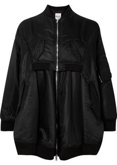 Noir Oversized Satin Jacket