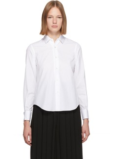 Noir White Cotton Cufflink Shirt