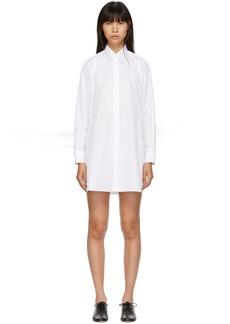 Noir White Long Shirt Dress