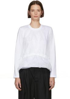 Noir White Organza Body T-Shirt