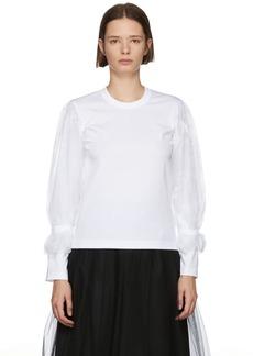 Noir White Organza Sleeve T-Shirt
