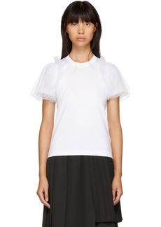 Noir White Tulle Sleeve T-Shirt