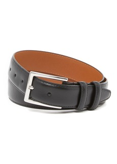 Nordstrom Basic Solid Edge Stitch Leather Belt
