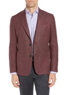 Nordstrom Basketweave Trim Fit Wool & Linen Sport Coat