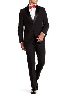 Nordstrom Black Two Button Notch Lapel Trim Fit Tuxedo